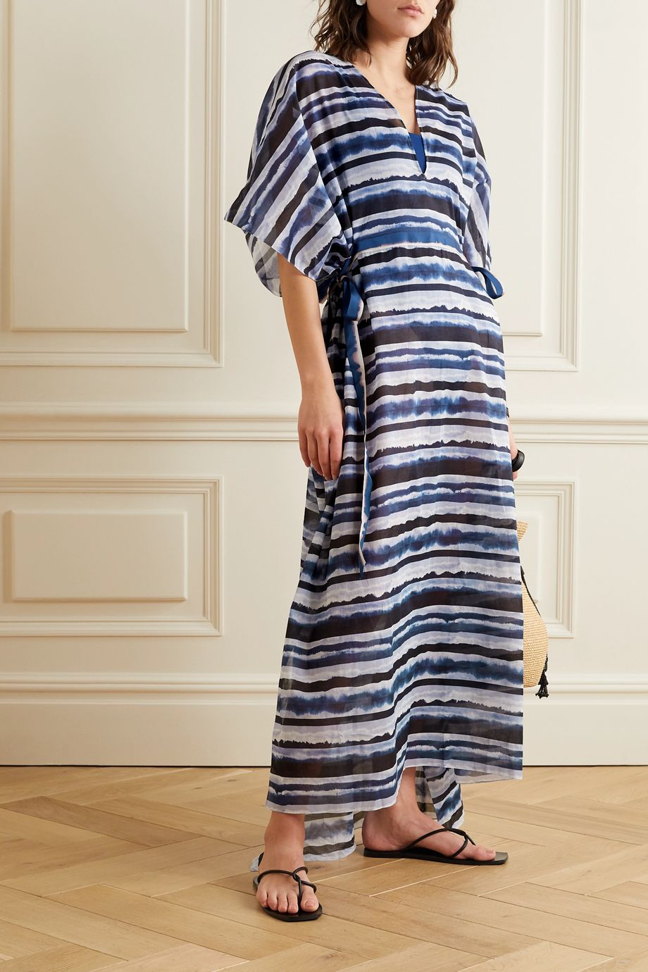 On The Island By Marios Schwab Arkoi tie-dyed cotton-voile kaftan