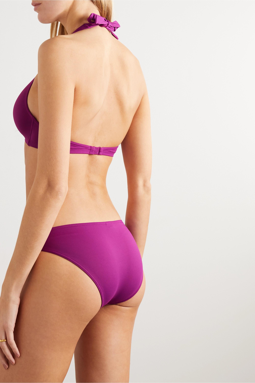 Eres Private embellished halterneck bikini top