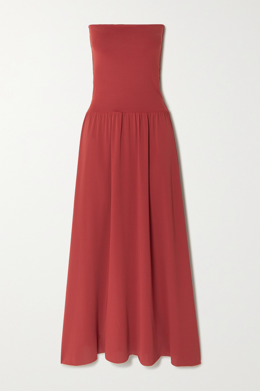 Eres - Oda strapless stretch-jersey maxi dress