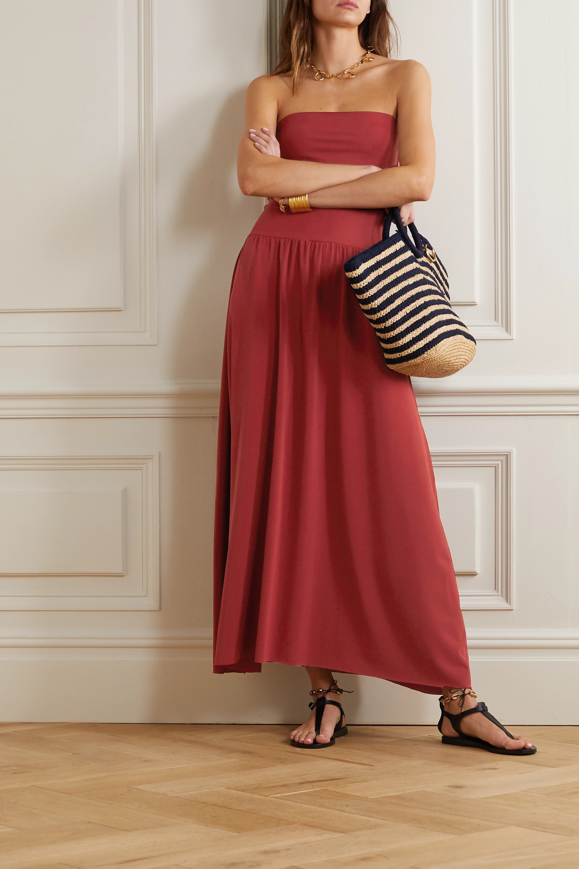 Eres Oda strapless stretch-jersey maxi dress