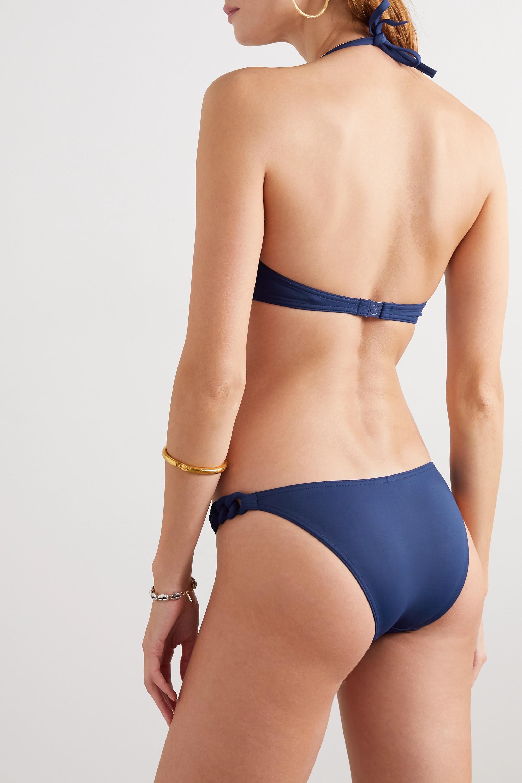 Eres Haut de bikini triangle dos-nu à finitions tressées Gourmette Manchette