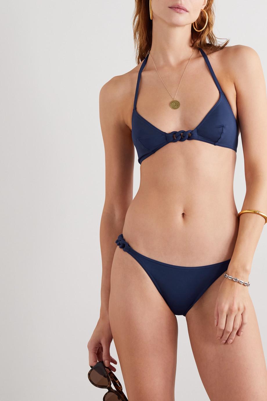 Eres Gourmette Manchette braided halterneck triangle bikini top
