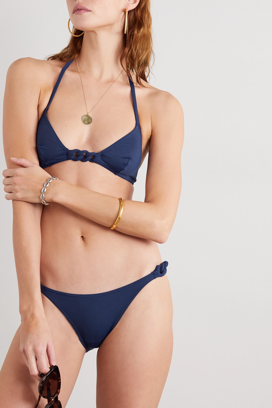 Eres Gourmette Bracelet braided bikini briefs