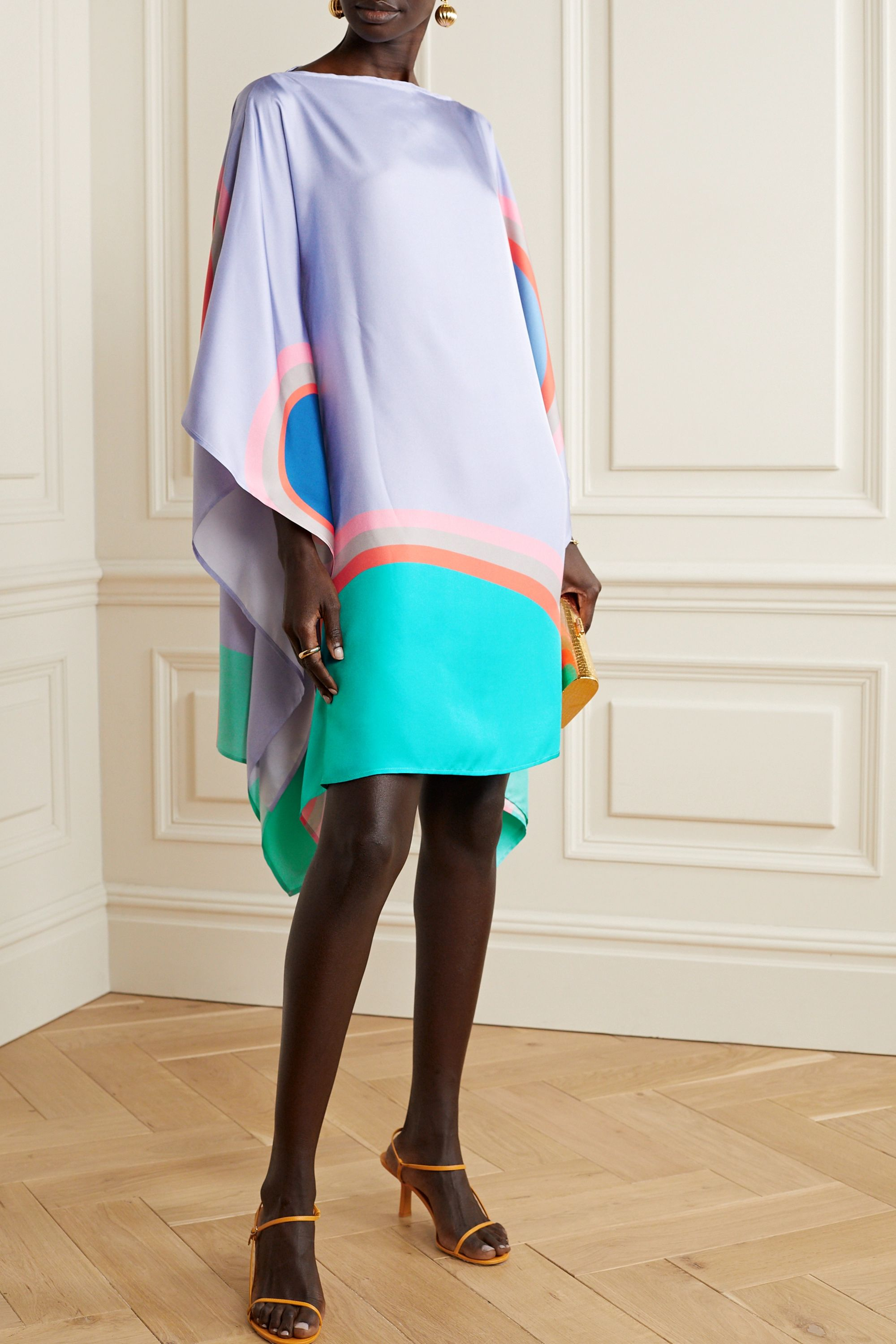 Louisa Parris Gabo printed silk-twill dress