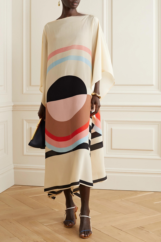 Louisa Parris Emilie printed silk crepe de chine midi dress