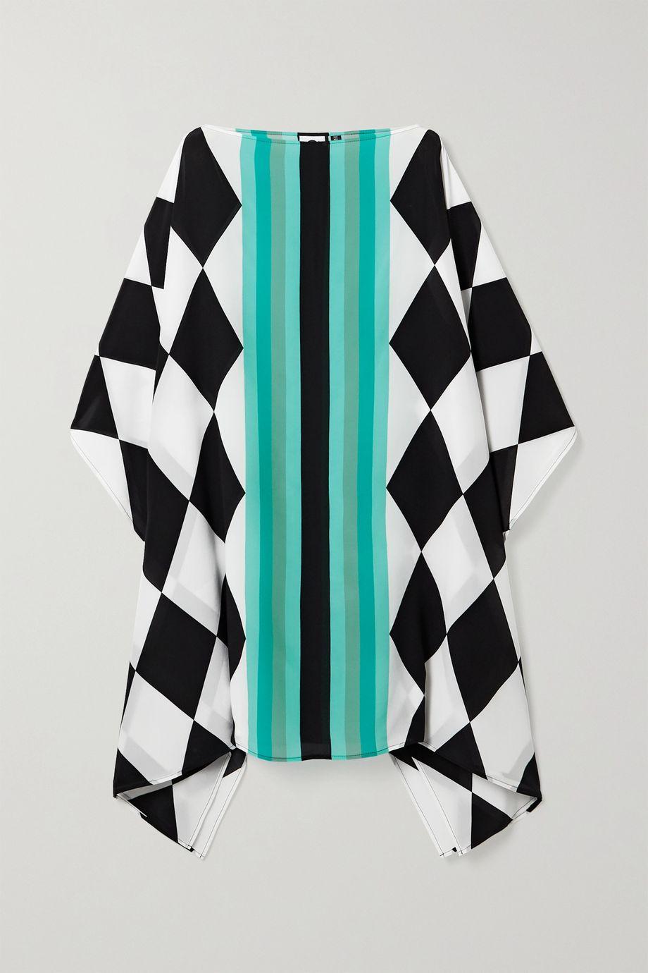 Louisa Parris Harlequin printed silk crepe de chine dress