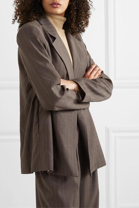 + NET SUSTAIN pinstriped wool blazer