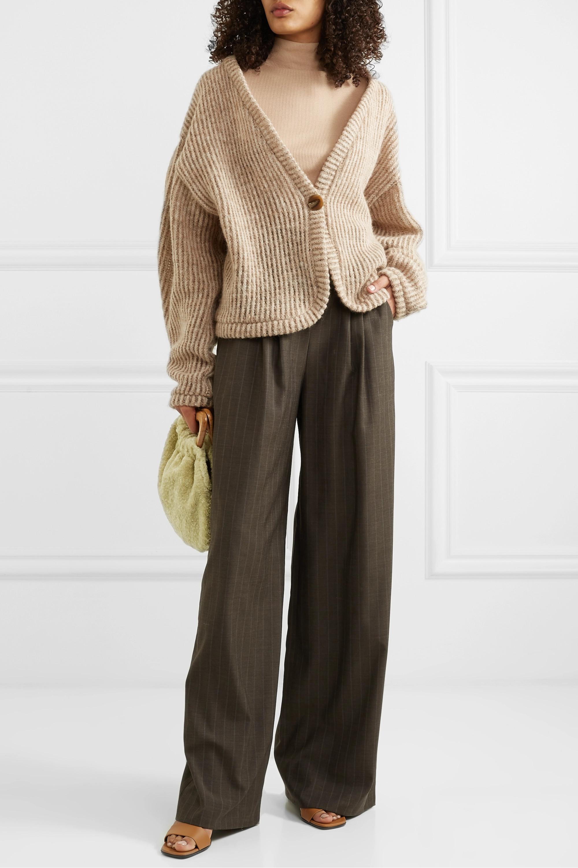 aaizél + NET SUSTAIN ribbed wool-blend cardigan
