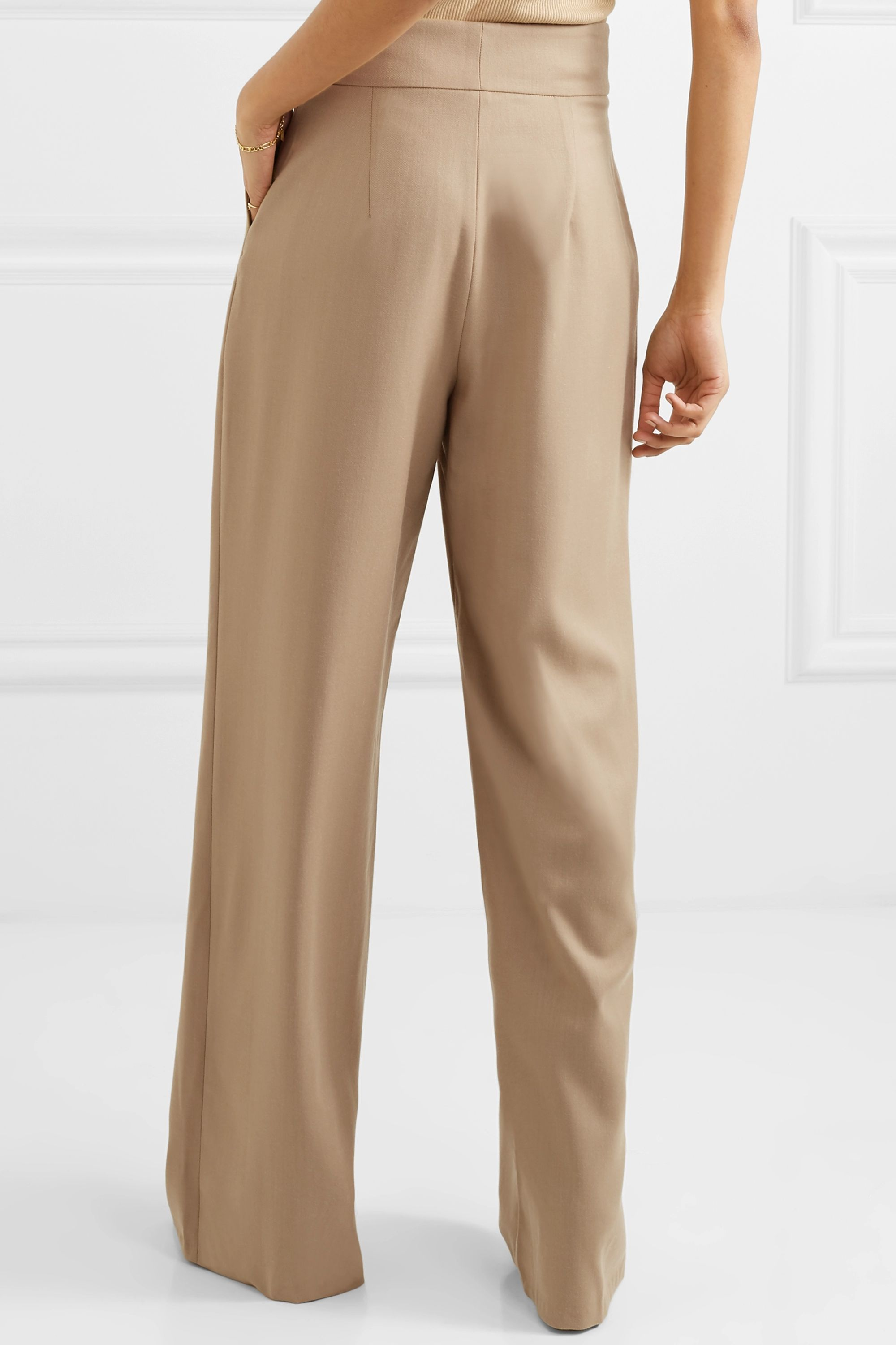 aaizél + NET SUSTAIN wool-blend wide-leg pants