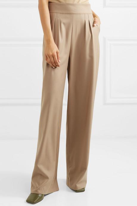 + NET SUSTAIN wool-blend wide-leg pants