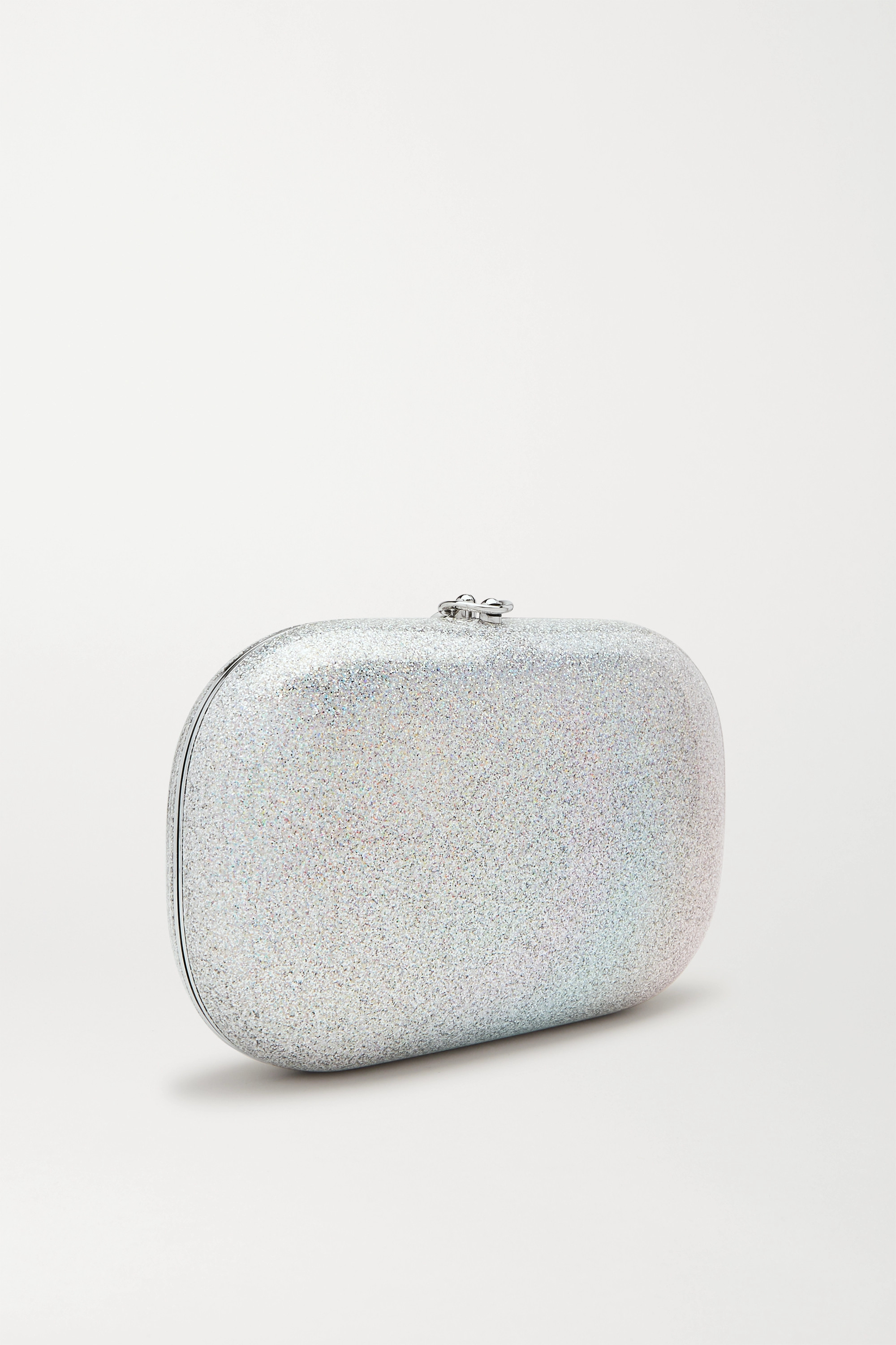Jeffrey Levinson Elina PLUS glittered rainbow enamel clutch