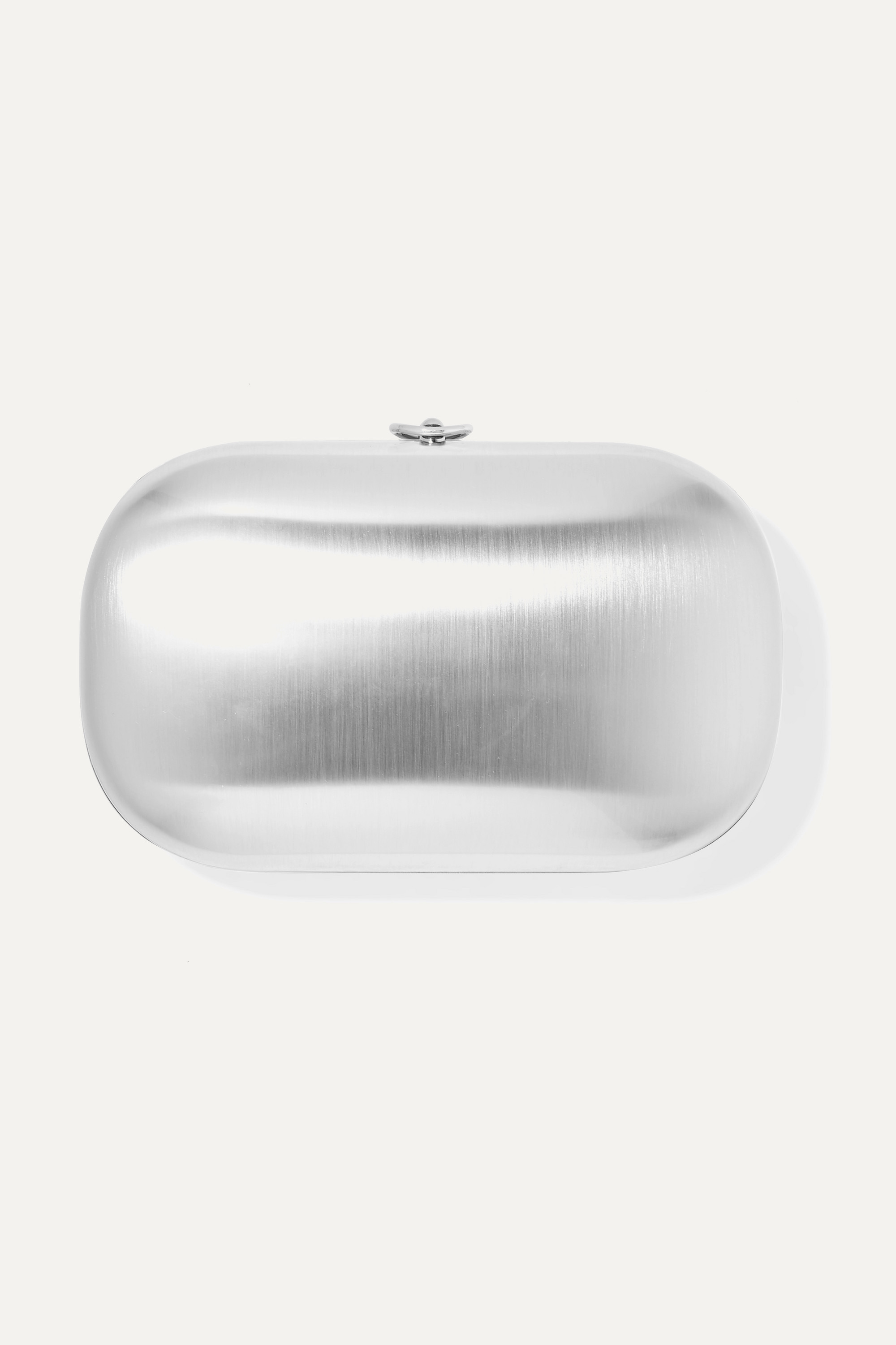 Jeffrey Levinson Elina Plus satin chrome aerospace aluminum clutch