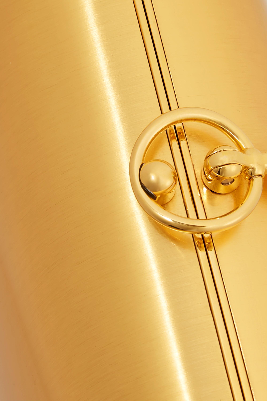 Jeffrey Levinson Elina PLUS brushed 18-karat gold clutch
