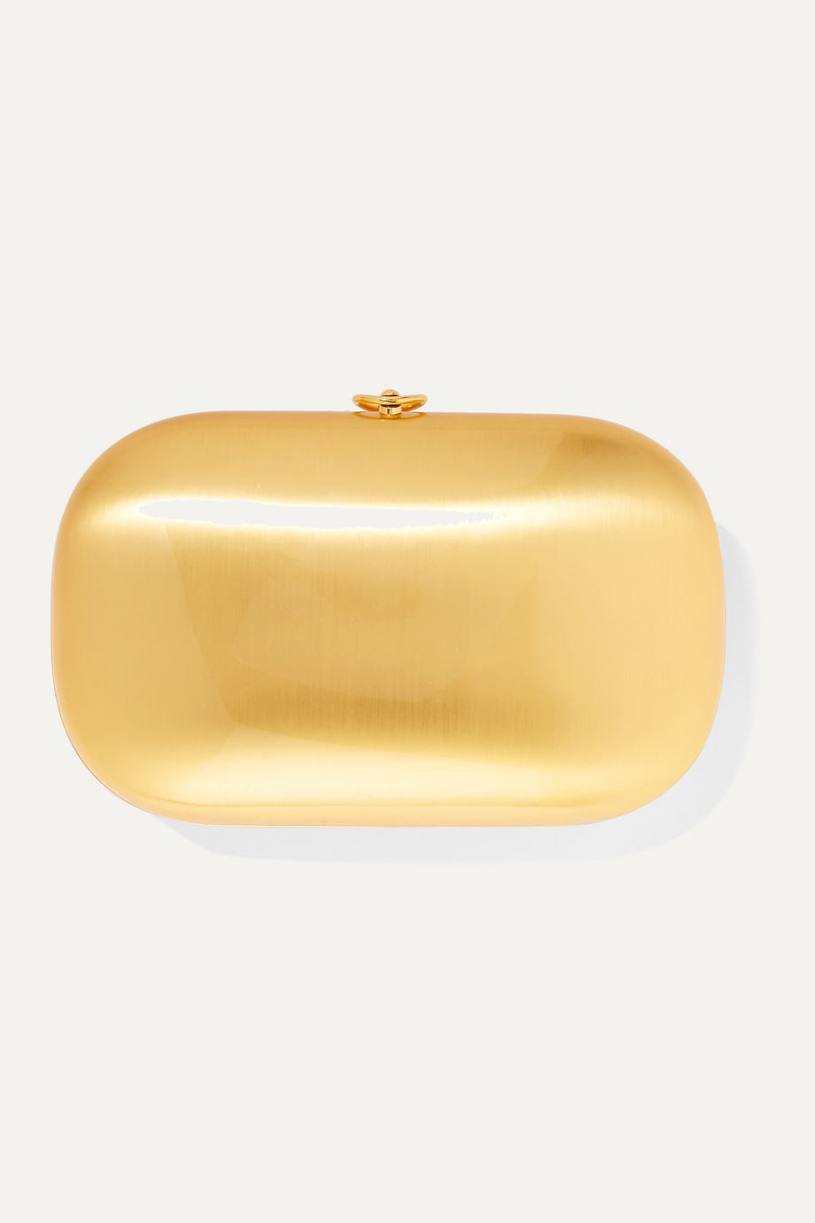 Jeffrey Levinson Elina PLUS brushed 18-karat gold clutch