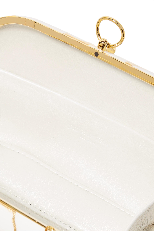 Jeffrey Levinson Elina Plus 18-karat gold and enameled aerospace aluminum clutch