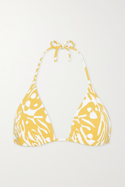 Eres Starfish printed triangle bikini top