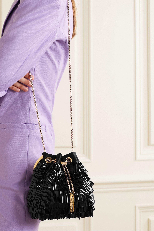 Jimmy Choo Bon Bon beaded satin shoulder bag