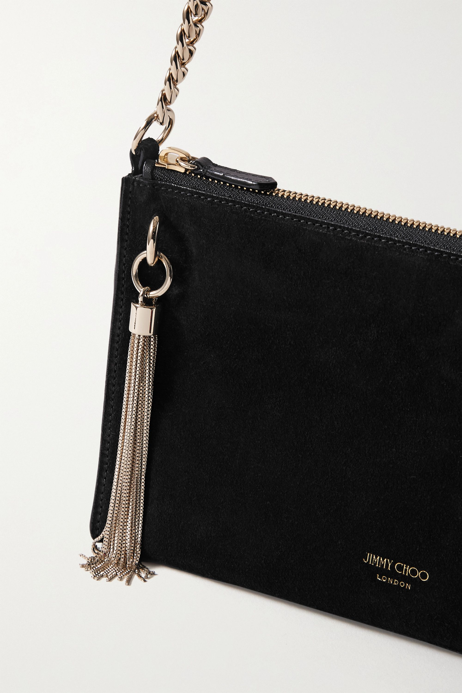 Jimmy Choo Callie mini tasseled suede shoulder bag