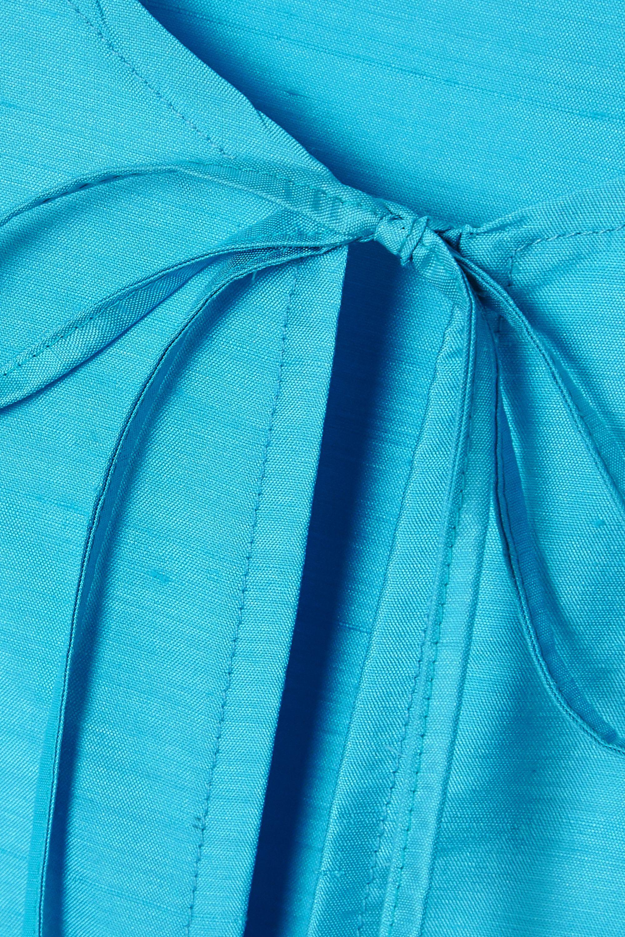 MaisonCléo Haut en soie doupion à liens Agnes