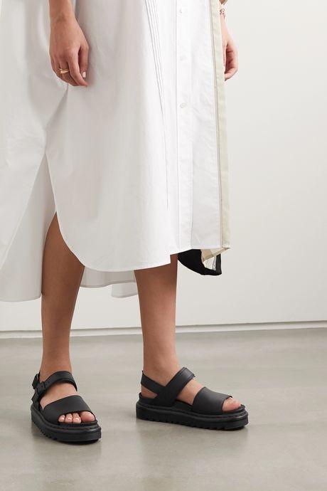 Black Voss leather platform slingback sandals   Dr. Martens 7tPkd6