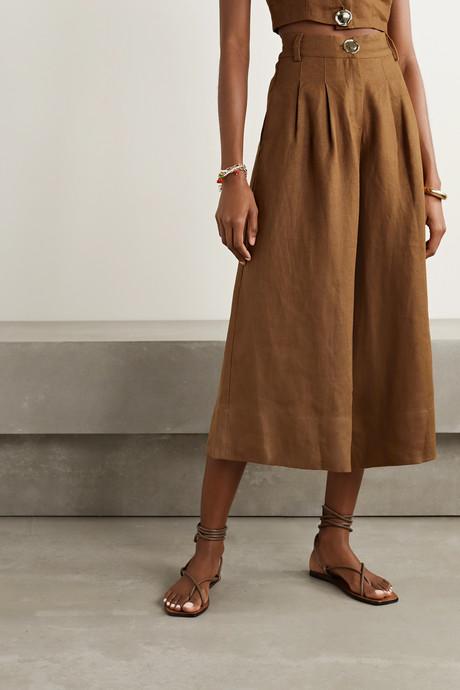 Varca linen wide-leg pants