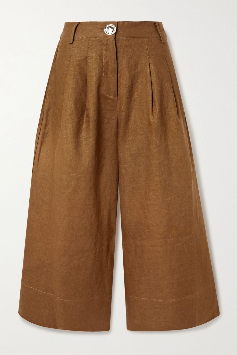 NICHOLAS Varca linen wide-leg pants