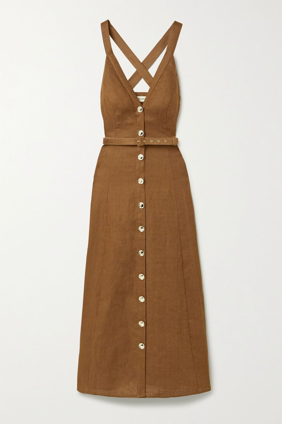 NICHOLAS Yasmine linen maxi dress