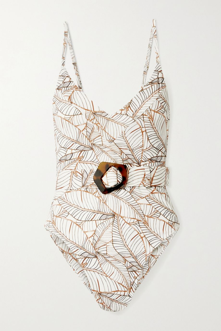 NICHOLAS Myra belted printed swimsuit