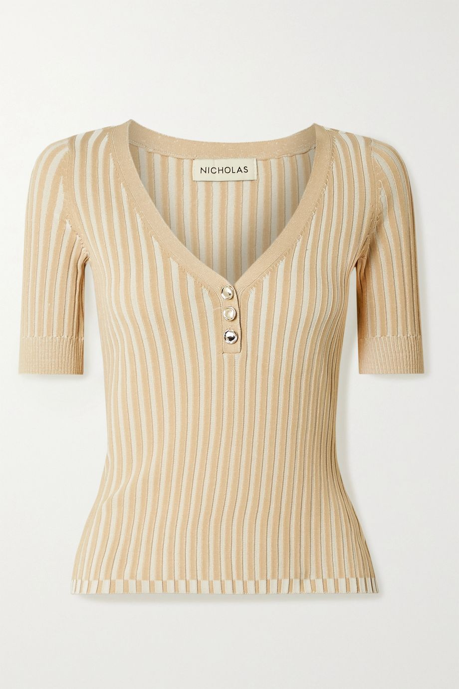 NICHOLAS Epices ribbed-knit top