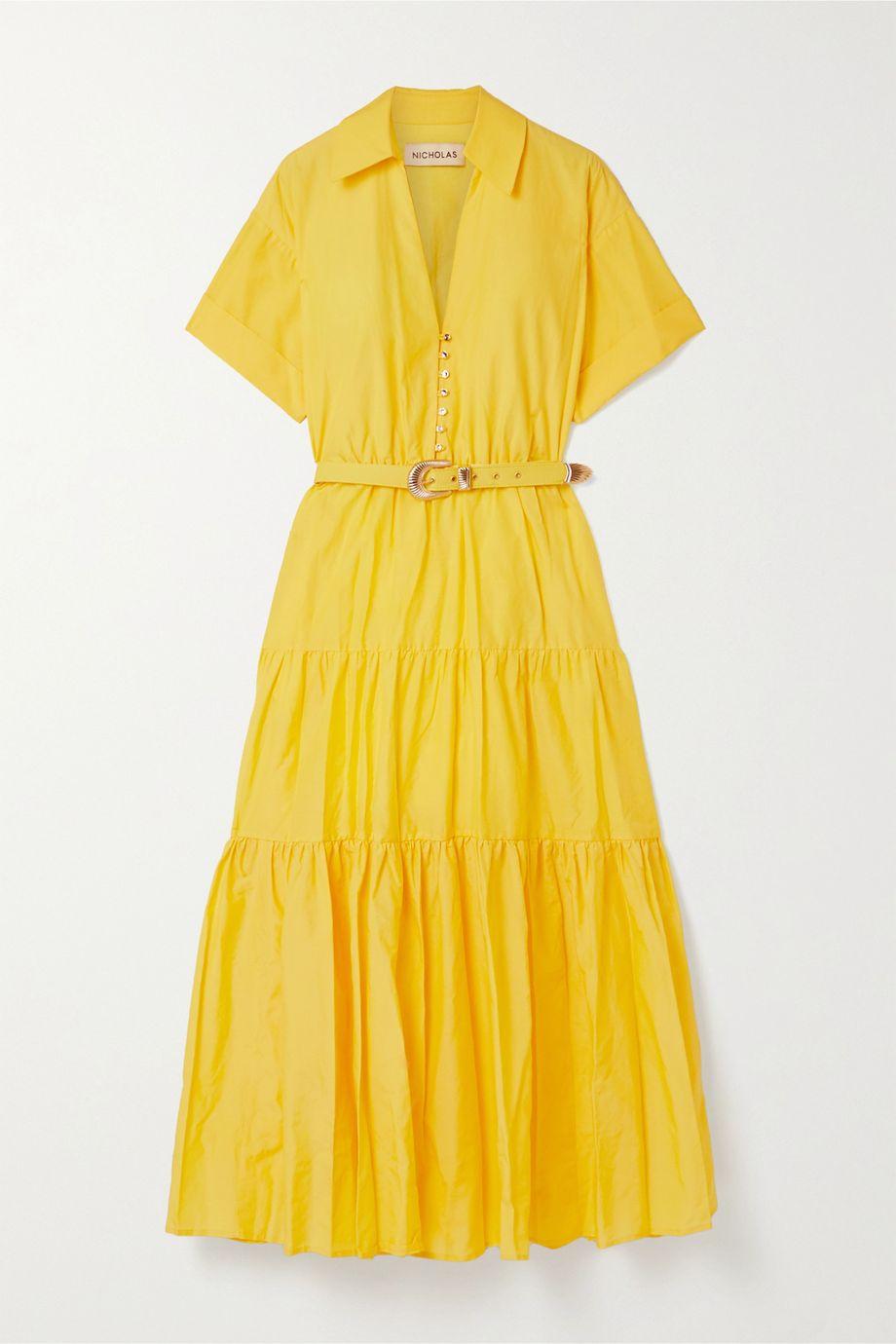 NICHOLAS Amina cotton and silk-blend maxi dress