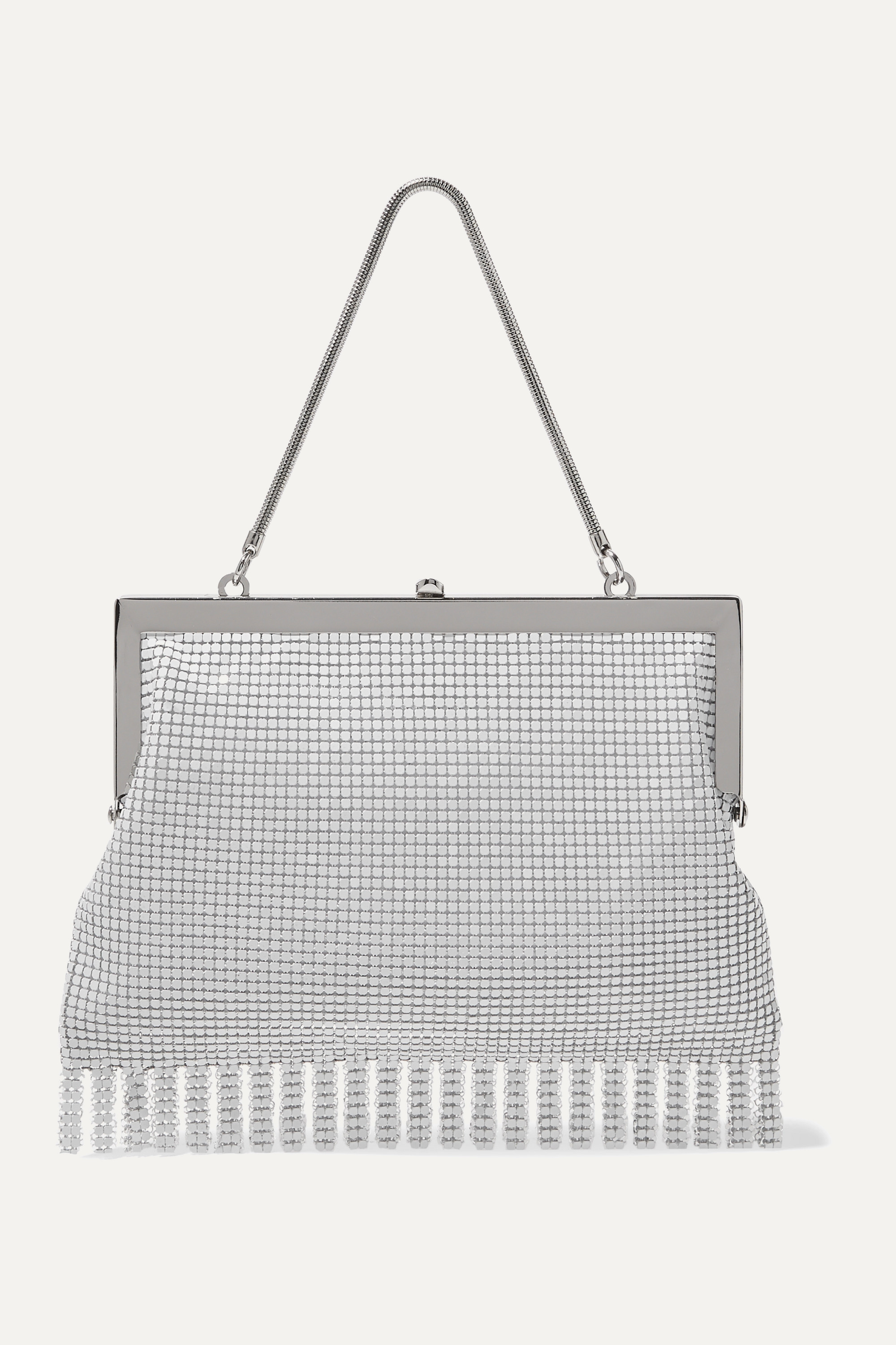 HVN Zoe fringed chainmail tote