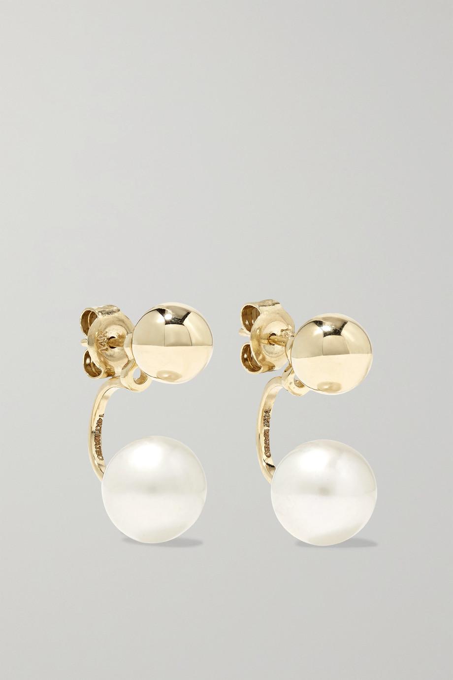 Mateo Ohrringe aus 14 Karat Gold mit Perlen