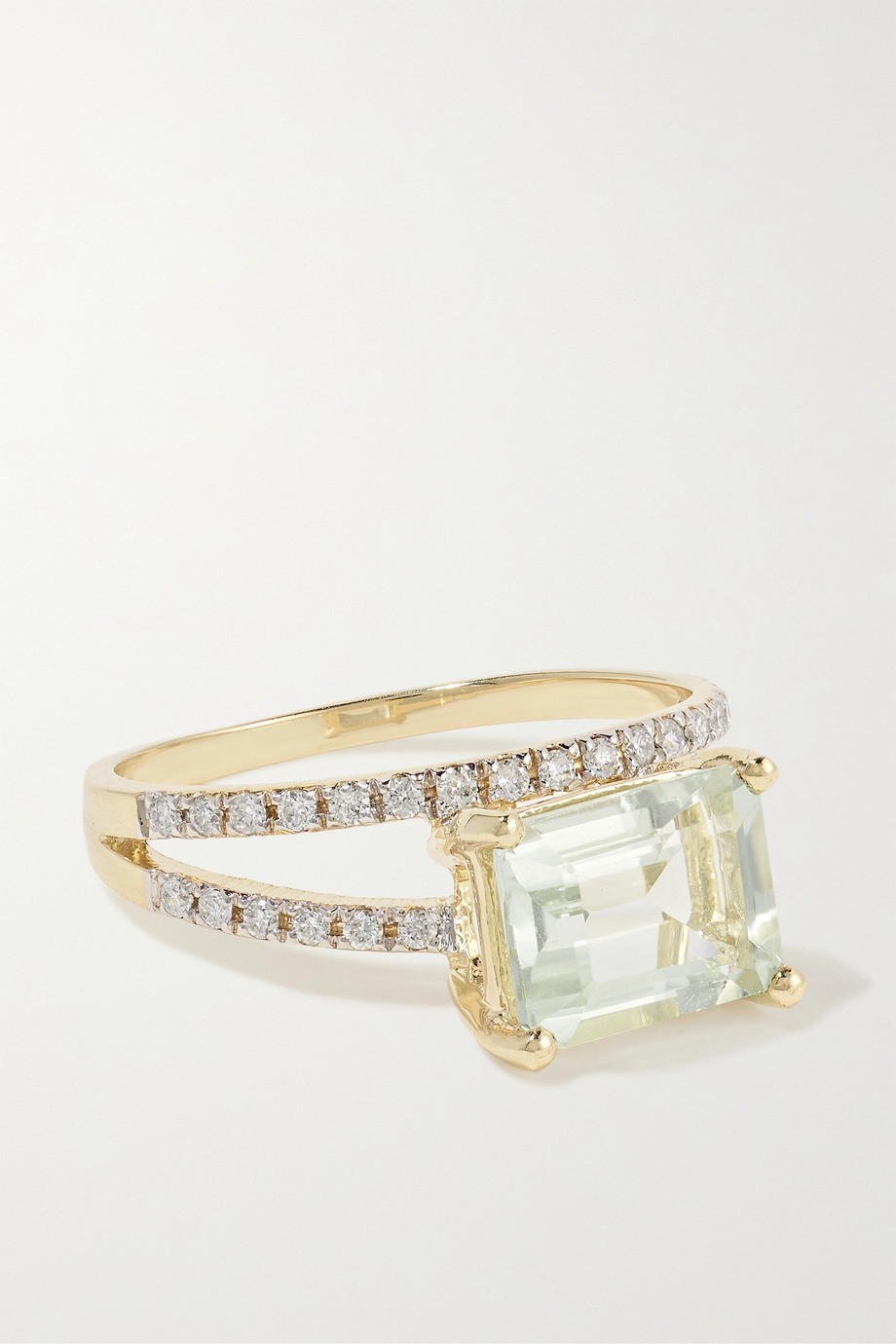 Mateo 14K 黄金、紫水晶、钻石戒指