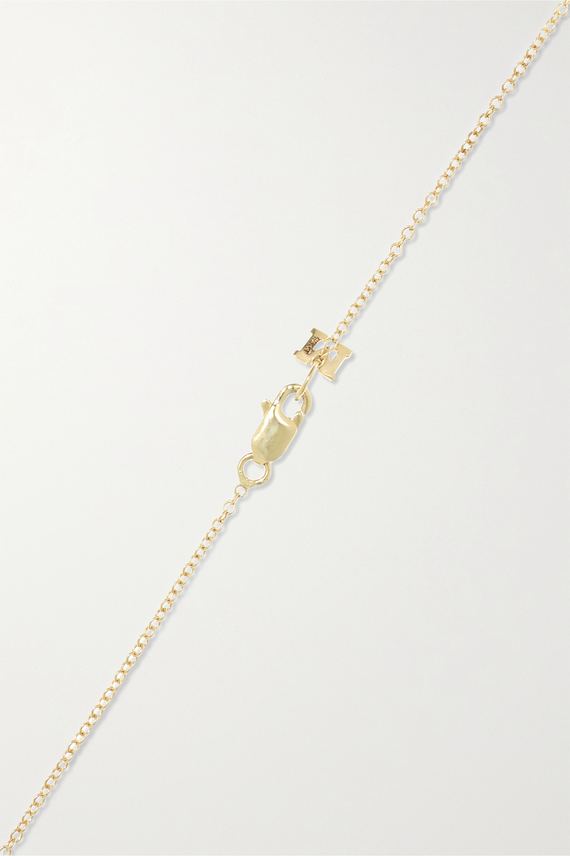 Mateo 14-karat gold, pearl and diamond necklace