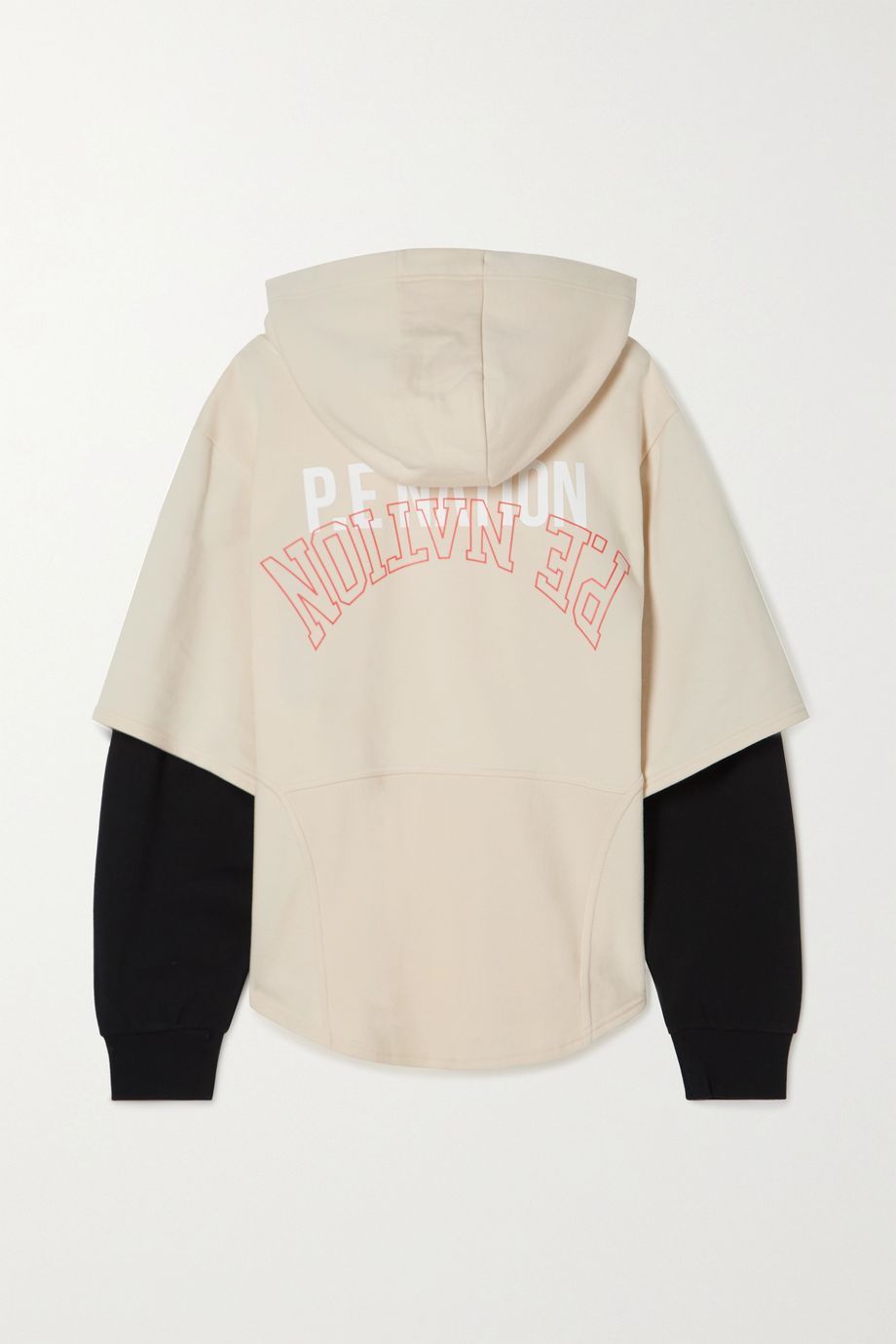 P.E NATION Full Court oversized printed organic French cotton-terry hoodie
