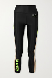 P.E NATION Bar Down printed stretch leggings