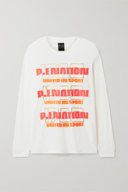 P.E NATION Rebuild oversized linen-blend top