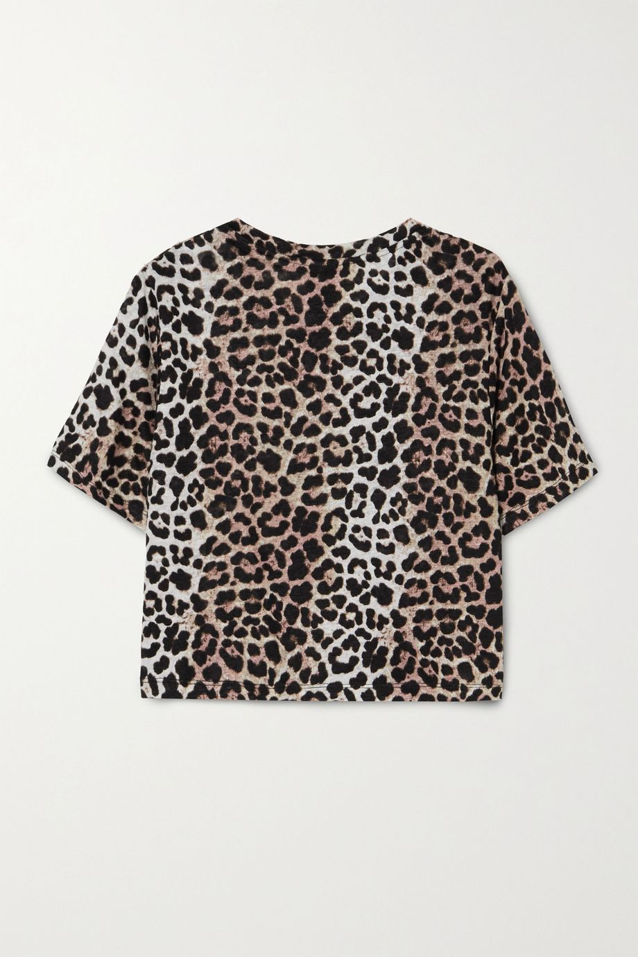 P.E NATION Bar Down cropped printed linen top