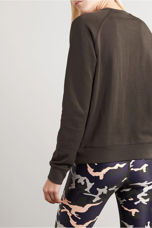The Upside Bondi Crew Sweatshirt aus Baumwollfrottee mit Print