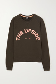 The Upside Bondi Crew printed cotton-terry sweatshirt
