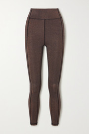 The Upside Aquarius Dance metallic stretch leggings