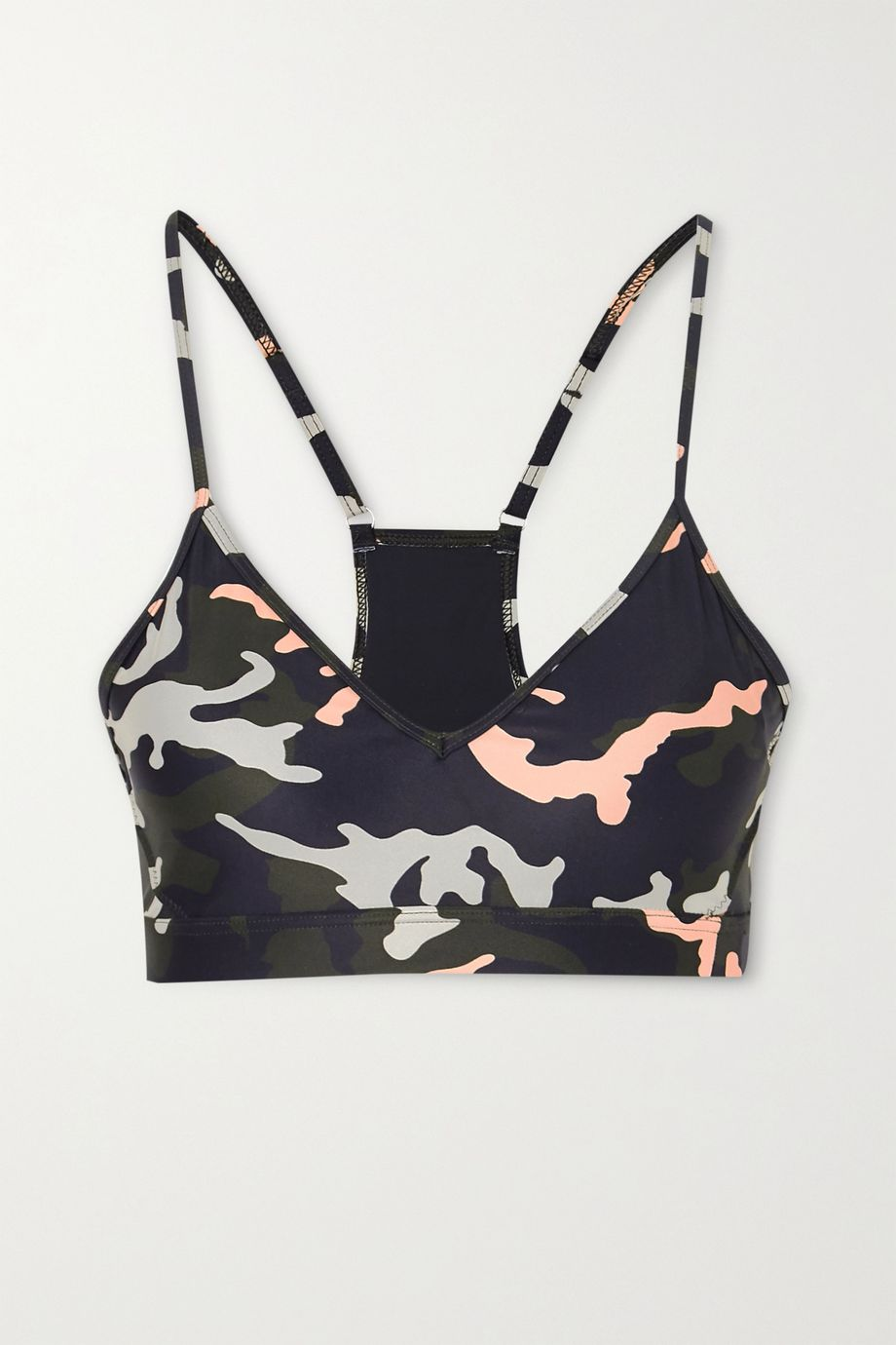 The Upside Andie camouflage-print stretch sports bra