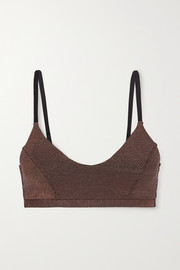 The Upside Aquarius Ballet metallic stretch sports bra