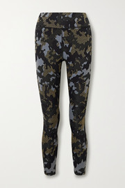 The Upside Twilight Dance cropped stretch jacquard-knit leggings