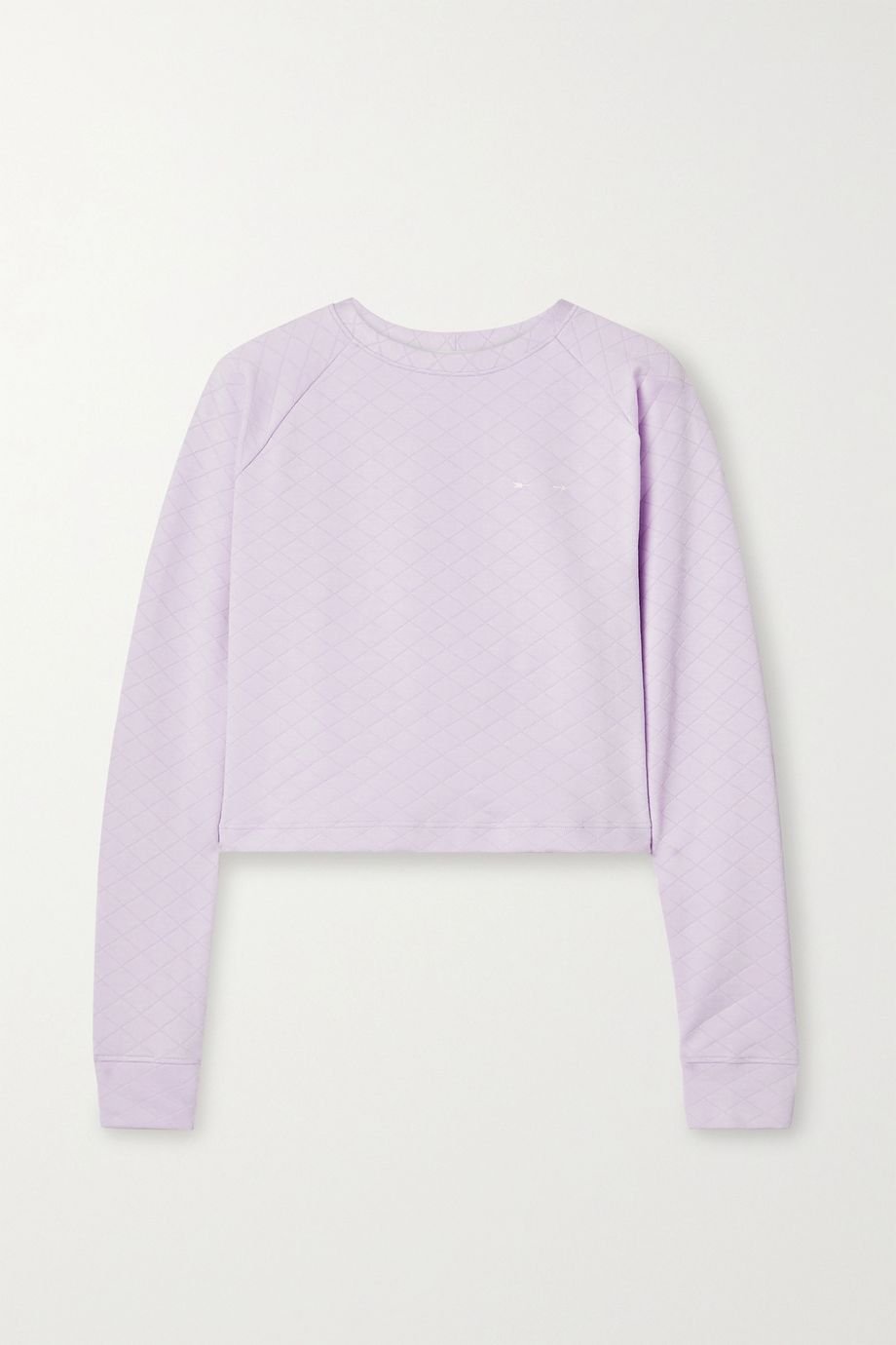 The Upside Faith cropped quilted stretch-jacquard sweatshirt
