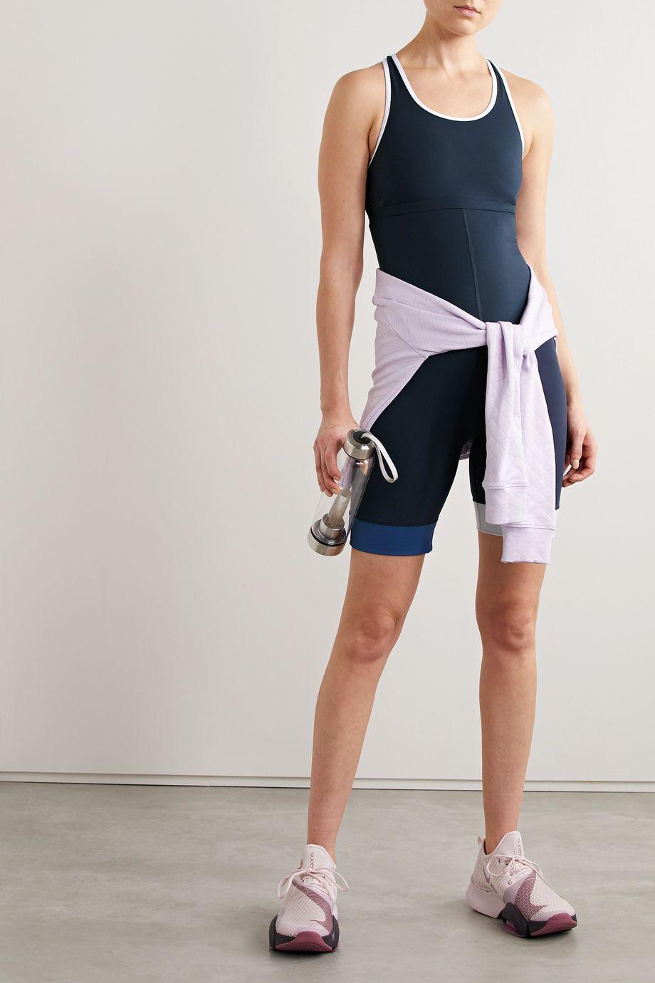 The Upside Joni Gymnastikanzug aus Stretch-Material in Colour-Block-Optik