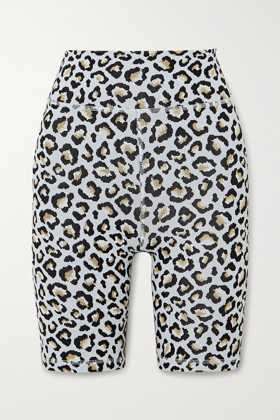 The Upside Leopard jacquard-knit shorts