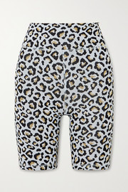 The Upside Leopard jacquard-knit shorts