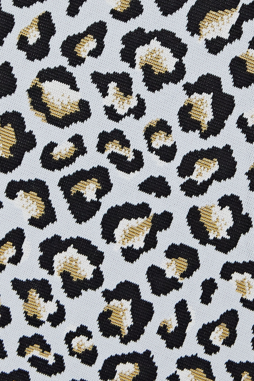 The Upside Cropped leopard jacquard-knit tank