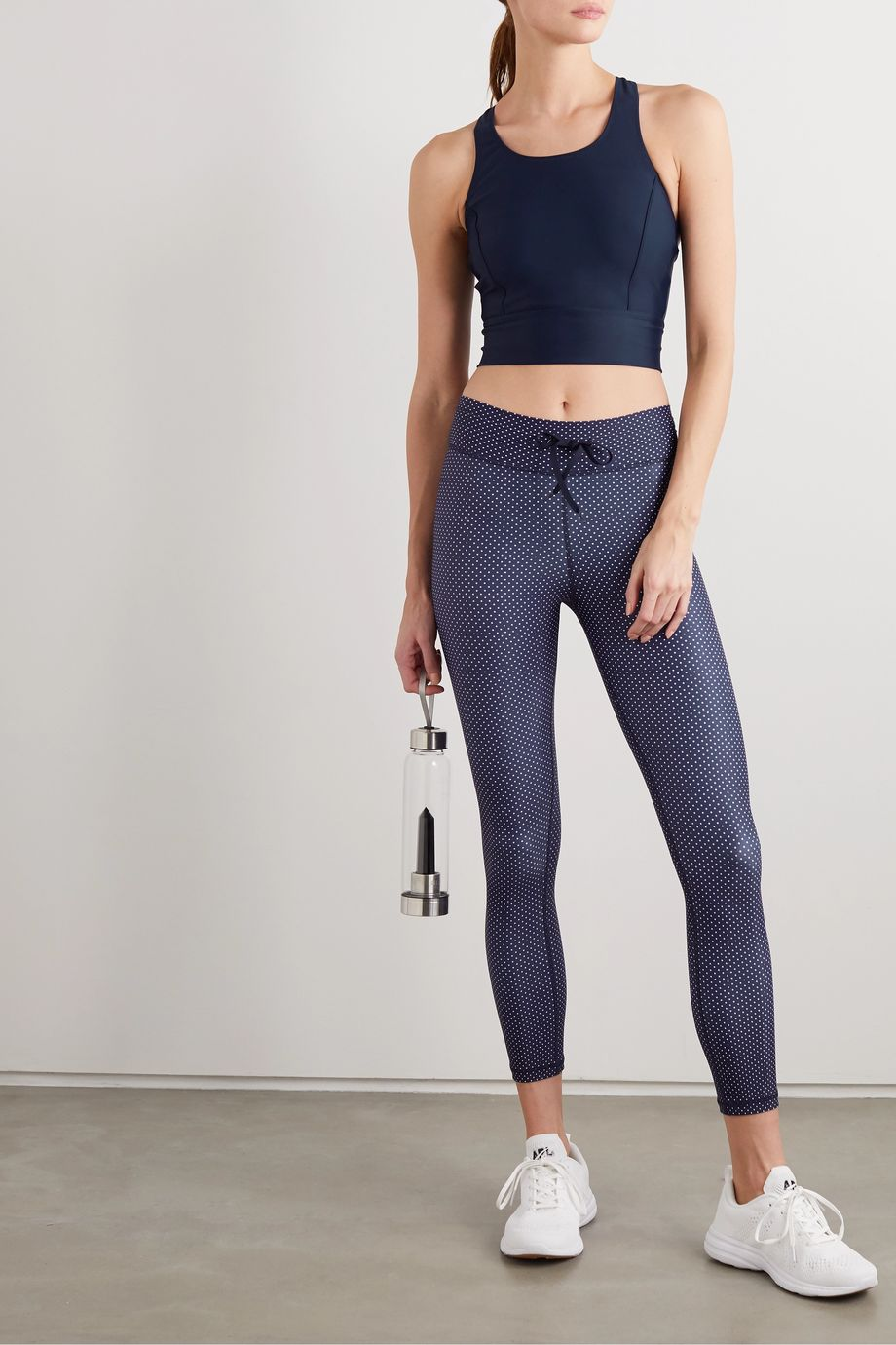 The Upside Amy cropped stretch top